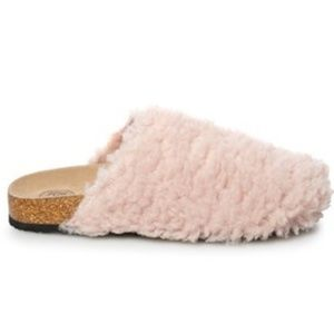 Pink cork clog slippers